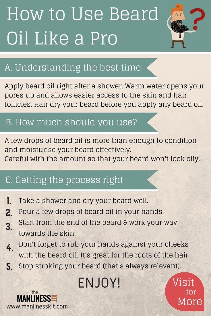 HOW TO USE BEARD OIL LIKE A PRO