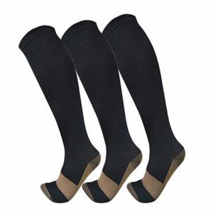 Copper Athletic Compression Ankle Socks For Men