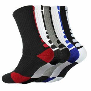 Pairs Men's Basketball Dri-Fit Athletic Crew Sock
