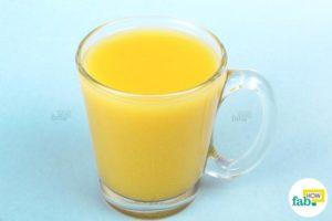 Using mustard mix